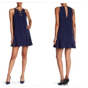 New Parker Lace Up Shift Dress